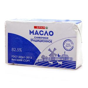 Масло сливочное традиционное 82,5% ТМ Spar (Спар)