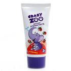 Детская зубная паста вкус клубники 2+ ТМ Crazy zoo (Крэйзи зоо)