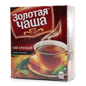 Чай черный крепкий в пакетиках ТМ Золотая чаша