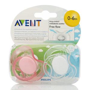 Ортодонтическая соска-пустышка серии Free flow (Фри флау) для детей 0-6 мес. ТМ Avent (Авент)