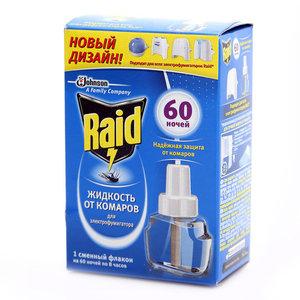 Жидкость от комаров для электрофумигатора 60 ночей ТМ Raid (Рейд)