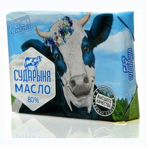Масло сладко-сливочное Любительское в/с 80% ТМ Сударыня несоленое