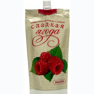 Малина протертая с сахаром ТМ Сладкая ягода