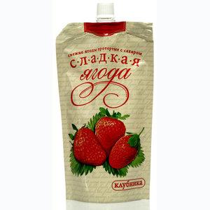 Клубника протертая с сахаром ТМ Сладкая ягода