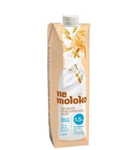 Напиток овсяный классический лайт 1,5% ТМ Nemoloko (Немолоко)