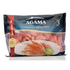 Северные креветки варено-мороженые ТМ Agama (Агама)