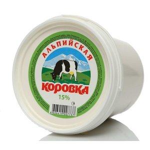 Сметанный продукт 15%  ТМ Альпийская коровка