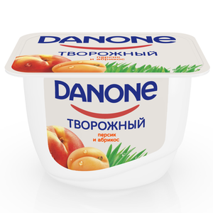 Творожок с персиком и абрикосом 3,6% ТМ Danone (Данон)