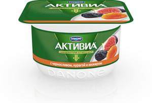 Десерт Активиа творожная с черносливом, курагой, инжиром 4,2%  ТМ Danone (Данон)