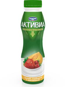 Йогурт питьевой Активиа с дыней, клубникой и земляникой 2% ТМ Danone (Данон)