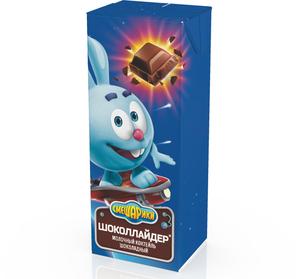 Молочный коктейль вкус шоколадная фантазия 2,5% ТМ Смешарики