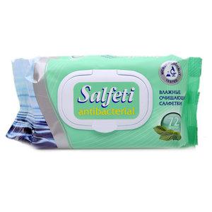 Салфетки влажные очищающие ТМ Salfeti (Салфети), 72 штуки