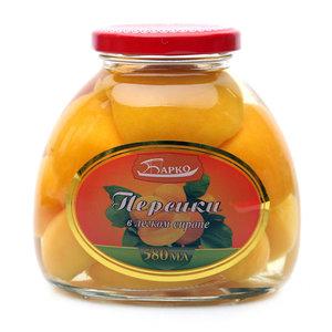 Персики в легком сиропе ТМ Барко
