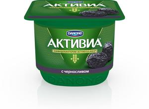 Йогурт (БиоЙогурт) Активиа с черносливом 2,9% ТМ Danone (Данон)
