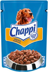 Влажный корм для собак Сытный мясной обед Мясное изобилие ТМ Chappi (Чаппи)
