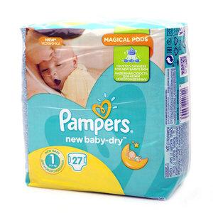 Подгузники New Baby 1 Mini  (2-5 кг)  ТМ Pampers (Памперс), 27 шт