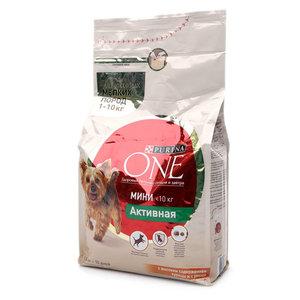 Корм для собак мелких пород с активным образом жизни с высоким содержанием курицы и с рисом ТМ Purina one (Пурина уан)