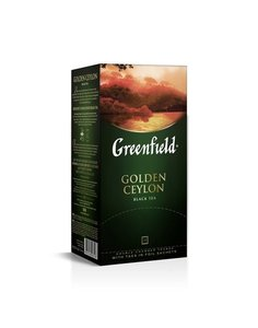 Чай черный  Golden Ceylon (Голден Цейлон) в пакетиках 25*2г ТМ Greenfield (Гринфилд)