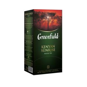 Чай черный Kenyan Sunrise (Кения Санрайз) в пакетиках 25*2г ТМ Greenfield (Гринфилд)