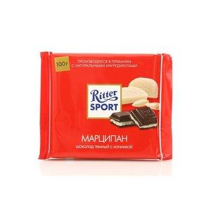 Шоколад темный с марципановой начинкой тм Ritter Sport (Риттер спорт)