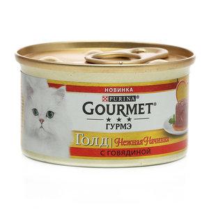 Корм консервированный для взрослых кошек с говядиной ТМ Gourmet (Гурмэ)