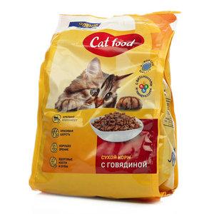 Корм сухой для взрослых кошек с говядиной ТМ Лента