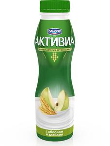 Натуральный биойогурт с яблоками и злаками Активиа 2,2% ТМ Danone (Данон)