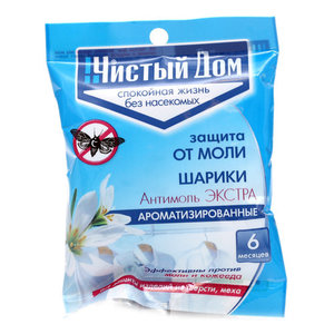 Шарики от моли Антимоль экстра ароматизированные ТМ Чистый дом