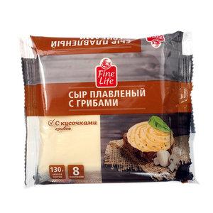 Сыр плавленый с грибами ТМ Fine Life (Файн лайф), 8 шт