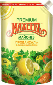 Майонез Провансаль с лимонным соком  ТМ Махеевъ