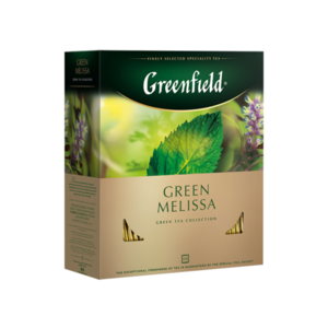 Чай зеленый  Green Melissa (Грин Мелисса) в пакетиках 100*1,5г ТМ Greenfield (Гринфилд)