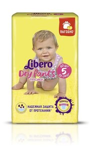 Трусики-подгузники Dry Pants (Драй Пантс) 5 (10-14 кг), 50 шт ТМ Libero (Либеро)