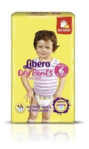 Трусики-подгузники Dry Pants (Драй Пантс) 6 (13-20 кг), 46 шт ТМ Libero (Либеро)