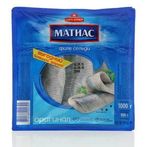 Филе сельди деликатесное оригинальное Матиас ТМ Санта Бремор