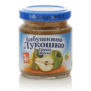 Пюре из груш и яблок для детей старше 3,5 месяцев ТМ Бабушкино лукошко
