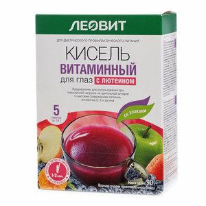 Кисель витаминный для глаз с лютеином со злаками ТМ Леовит, 5шт*18г