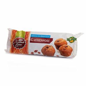 Кексы на фруктозе с изюмом ТМ Хлебный спас