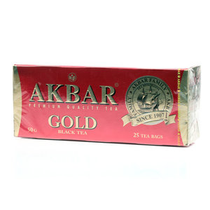 Чай черный Gold в пакетиках ТМ Akbar , 25*2г