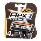 Сменные кассеты Flex3 Hybrid ТМ Bic (Бик), 4 шт