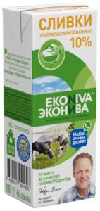Сливки питьевые ультрапастеризованные 10% ТМ Эконива