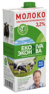 Молоко ультрапастеризованное 3,2% ТМ Эконива