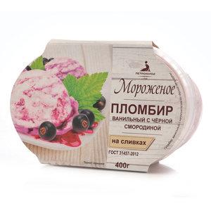 Пломбир ванильный с черной смородиной ТМ Петрохолод