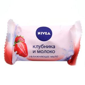 Мыло увлажняющее Клубника и молоко ТМ Nivea (Нивея)