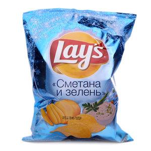 Чипсы Сметана и Зелень ТМ Lay's (Лэйс)