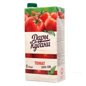 Сок томатный восстановленный с мякотью ТМ Дары Кубани