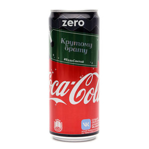 Напиток безалкогольный сильногазированный Coca-Cola zero ТМ Coca-Cola (Кока-Кола)