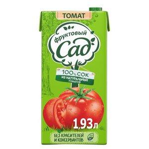 Сок томатный с сахаром и солью с мякотью для детского питания ТМ Фруктовый сад