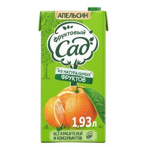 Нектар апельсиновый с мякотью для детского питания ТМ Фруктовый сад