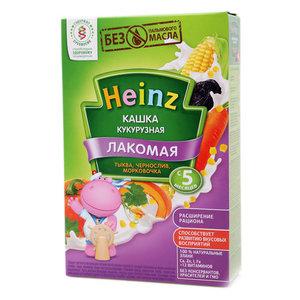 Каша Лакомая кукурузная тыква/чернослив/морковочка  с 5-ти месяцев TM Heinz (Хайнц)