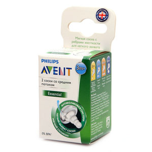 Соска молочная силиконовая ТМ Philips Avent (Филипс Авент)